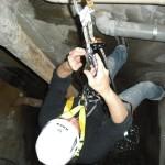 1 calata in cavedio per verifica condotte di scarico fognario