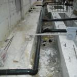 posa di condotte recupero acque piovane + fognatura